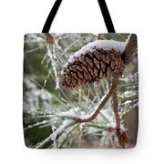 Snow In The Pines Tote Bag