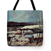 Snow In Vittrival Tote Bag
