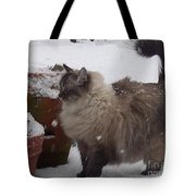 Snow Kitty Tote Bag
