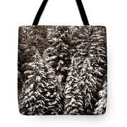 Snow-laden Forest Tote Bag