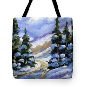 Snow Laden Pines Tote Bag