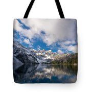 Snow Lake Vista Tote Bag