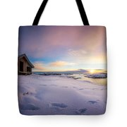 Snow Landscape Tote Bag
