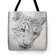 Snow Leopard - Intent Tote Bag