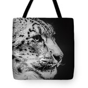 Snow Leopard Tote Bag by Jeff Swanson