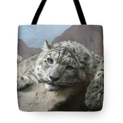 Snow Leopard Relaxing Tote Bag