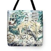 Snow Lion Tote Bag