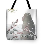 Snow Monkey And Sunrise  Tote Bag