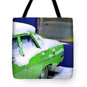 Snow On Car Tote Bag