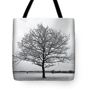 Snow On Epsom Downs Surrey Uk Tote Bag