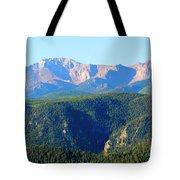Snow On Pikes Peak Tote Bag