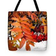 Snow On Scarlet Magick Tote Bag