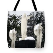 Snow On The Angels  Tote Bag