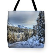 Snow On The Bow Valley Parkway Tote Bag