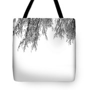 Snow On The Branches Two  Tote Bag