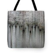 Snow On The Cypresses Tote Bag