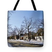 Snow On The Duke Of Gloucester Street  Tote Bag