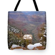 Snow On The Grand Canyon Tote Bag