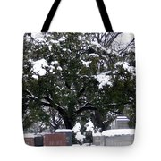 Snow On The Graves Tote Bag