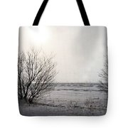 Snow On The Lake Tote Bag