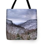 Snow On The Mesa Tote Bag
