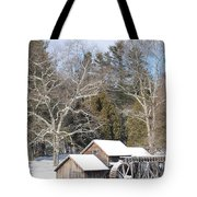 Snow On The Mill 2 Tote Bag