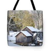 Snow On The Mill Tote Bag