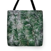 Snow On The Pine Tote Bag