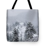 Snow On The Ridge In The Pike National Forest Tote Bag