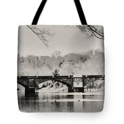 Snow On The River Tote Bag