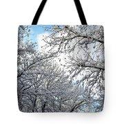 Snow On Trees Tote Bag