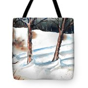 Snow Orchard Tote Bag