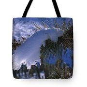 Snow Ornament - Joshua Tree Tote Bag