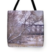 Snow Over White Cloud Tote Bag