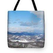 Snow Overlook Tote Bag