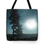 Snow Particles Back Light Tote Bag