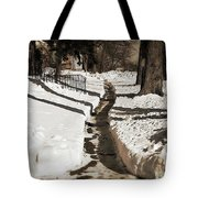 Snow Paths And Winter Shadows Tote Bag