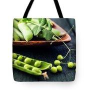 Snow Peas Or Green Peas Still Life Tote Bag