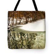 Snow Pond Tote Bag
