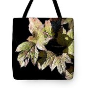 Snow Puff Leaves Tote Bag