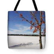 Snow Ripple Tote Bag