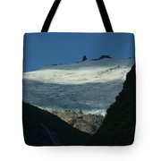 Snow Rock And Shadow Tote Bag