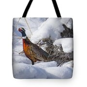 Snow Rooster Tote Bag