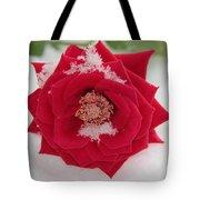 Snow Rose Tote Bag