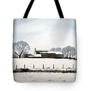 Snow Scene Barkisland Tote Bag