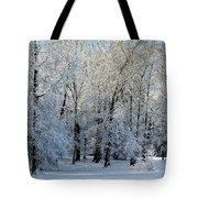 Snow Scene One Tote Bag