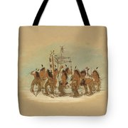 Snow Shoe Dance. Ojibbeway Tote Bag