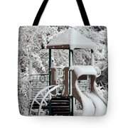 Snow Slide Tote Bag