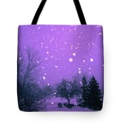 Snow Song Tote Bag