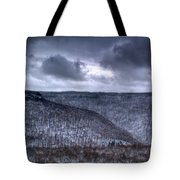 Snow Storm In The Mountains Tote Bag